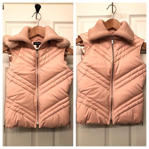 bebe Jackets & Blazers - Bebe pink puffy down vest